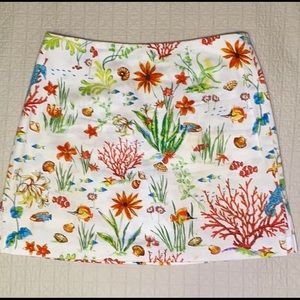 Bamboo Traders Ocean Life Skort in size 6